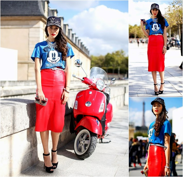 Mickey Mouse Fashion Diana Enciu shows that the secret to updating a vintage tee mickey tee