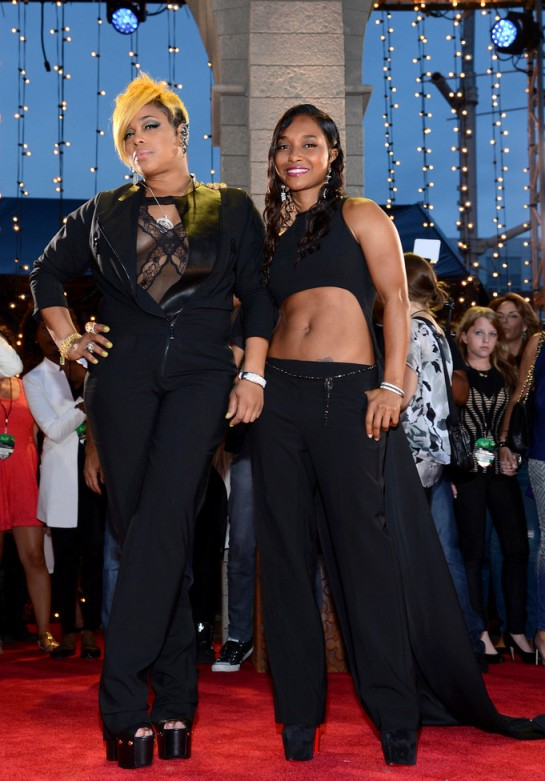 2013+MTV+Video+Music+Awards+Red+Carpet+ZBjWkeRqwh1xTionne 'T-Boz' Watkins and Rozonda 'Chilli' Thomas of TLC
