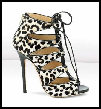 "fcGail"" leopard print sandals  jimmy choo"
