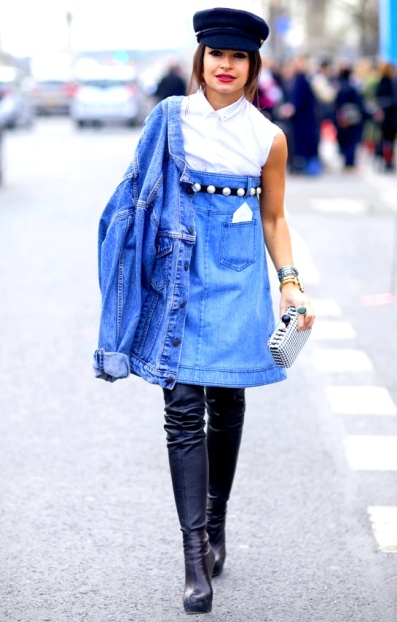 2Mira Duma Street Style Fshion Week Chanel Denim
