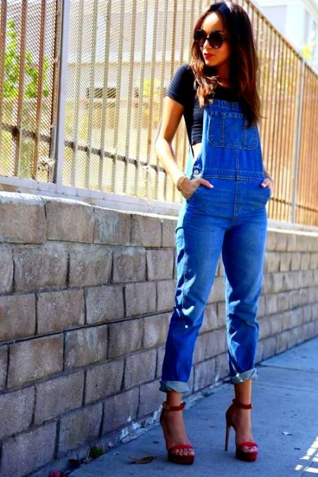 Ashley Makewike Overalls denim street style