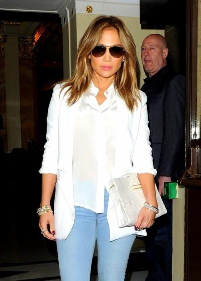 J.lo + white blazer
