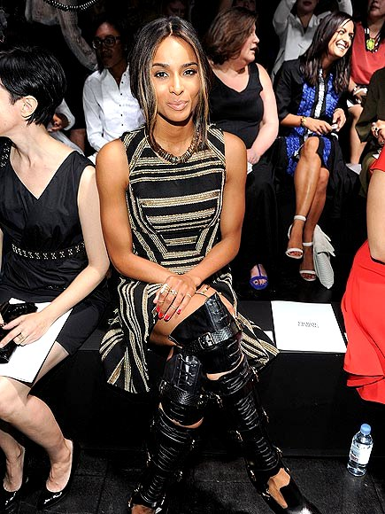 ciara-435s the singer attending the Prabal Gurung runway presentation or going to battle
