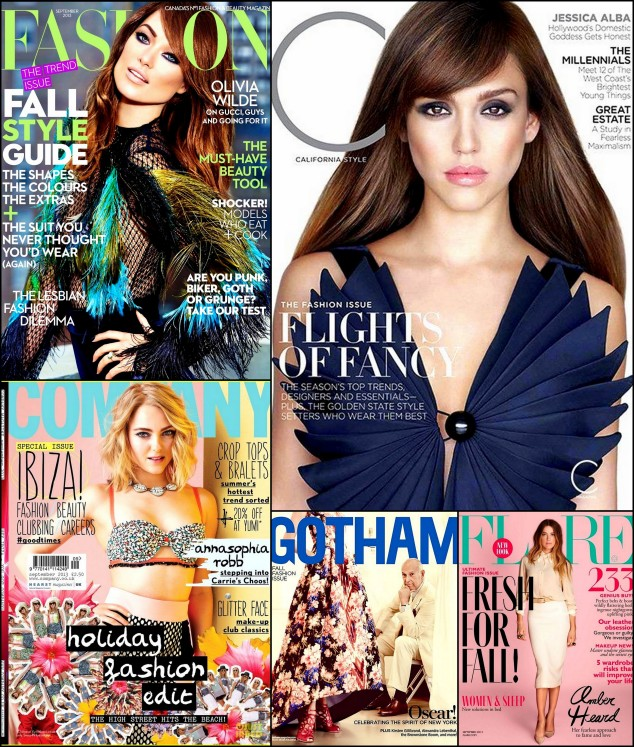 Collages (1) Fashion Mag, C California September , Gotham, 2013 covers jessica alba, olivia wilde