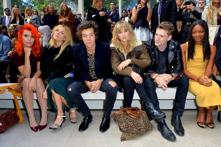 front-row-burberryPaloma Faith, Sienna Miller, Harry Styles and Suki Waterhouse