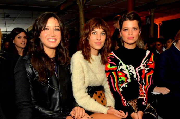 front-row-christopher-kaneDaisy Lowe, Alexa Chung and Pixie Geldof