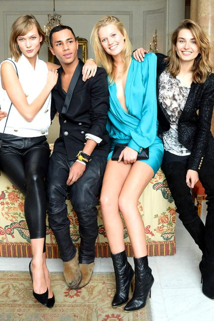 hbz-parties-BALMAIN-After-Show-Party-Karlie-Kloss-Olivier-Rousteing-Toni-Garrn-Andreea-Diaconu-xlnKarlie Kloss, Olivier Rousteing, Toni Garrn and Andreea Diaconu all in Balmain
