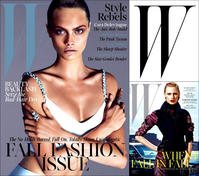 W Magazines Cara Delevigne and
