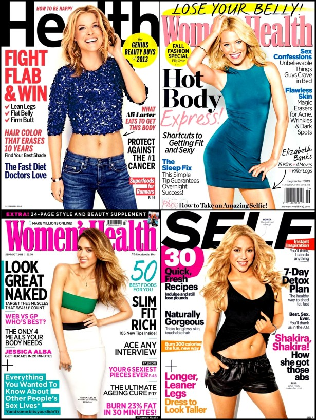 Pictures20 Health, Self, Women's Health Magazines Sept 2013