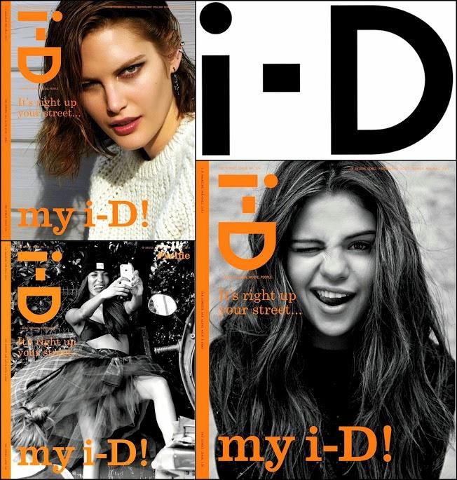 Sepetember 2013 i-D Mag Cover SEena G. JOURDAN