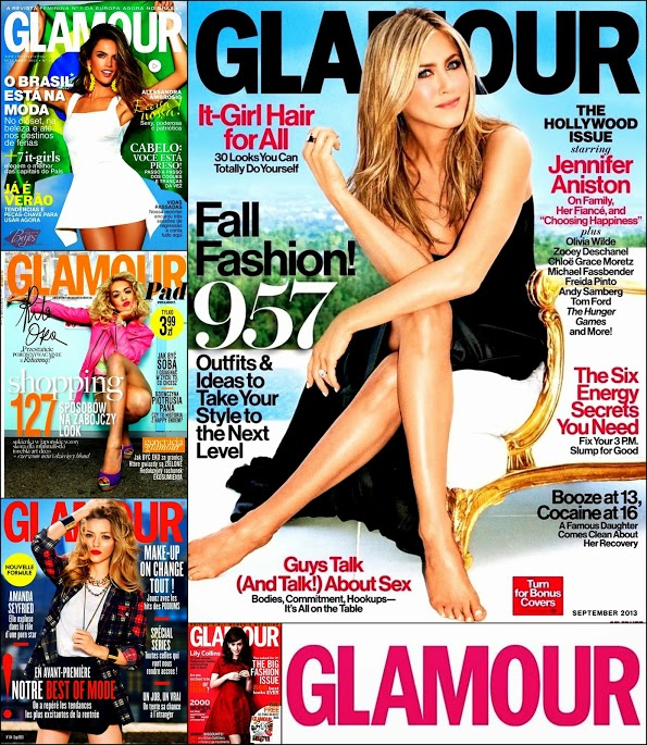 September 2013 Covers Glamour Jennifer Aniston, Alessandra, Rita Ora,AmandaS. Covers