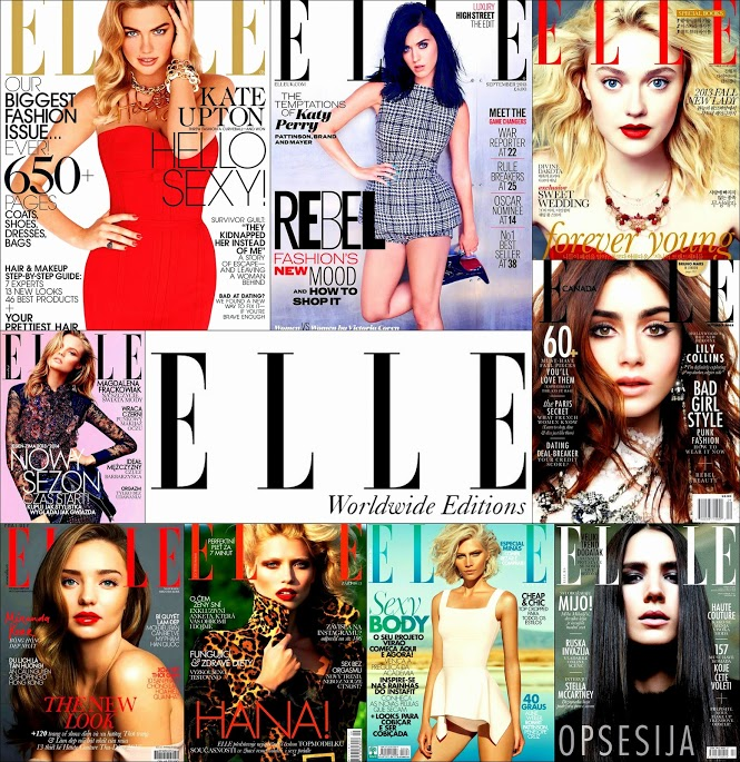 September 2013 ELLE Covers Katy Perry, Kate Upton, Lilly Collins, Dakota Fanning Covers