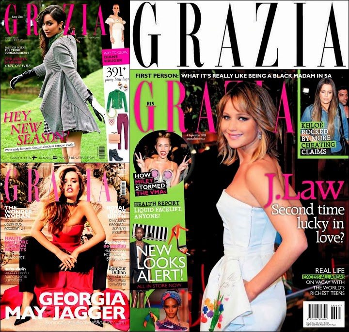 September 2013 Grazia Covers