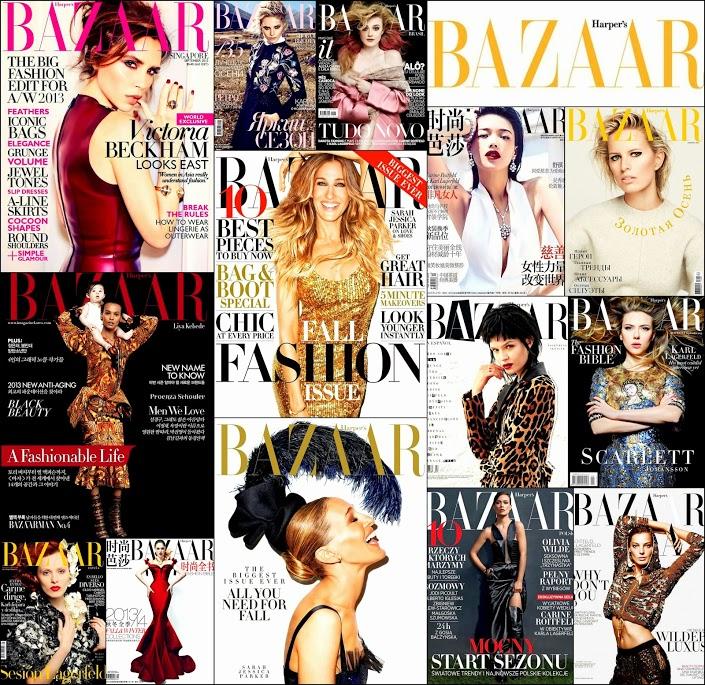 September 2013 Harper's Bazzar Sara Jessica Parker, Victoria Beckham, Scarlett J. Olivia, Covers