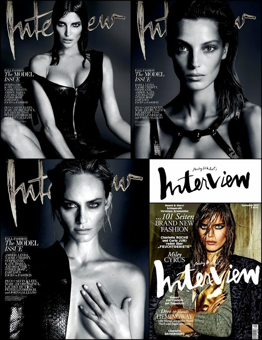 September 2013 Interview Model Issue Daria, Amber, Helena Covers
