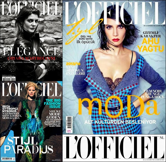 September 2013 L'OFFICIEL Magazines Covers