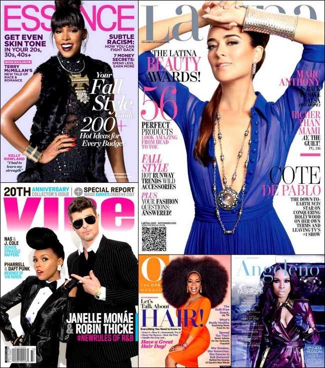September 2013 Omag, Essence and Vibe covers