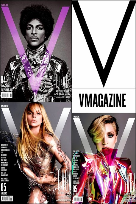 September 2013 Vmagazines Lady Gaga & Prince Covers