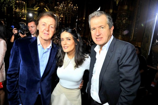 stella-fr07 Paul McCartney, Salma Hayek and Mario Testino