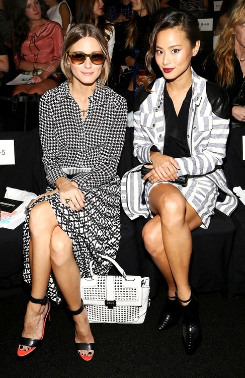 tumb0Olivia Palermo and Jamie Chung at Rebecca Minkoff fashion show Spring 2014