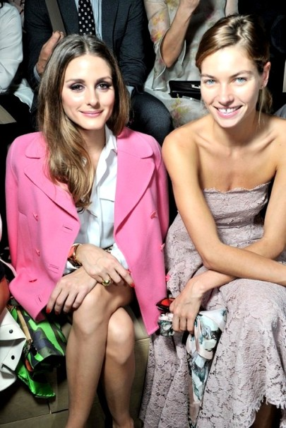 0Olivia Palermo & Jessica Hart, Front Row at Valentino SS 2014, Paris Fashion Week