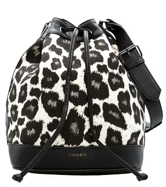 16000101_02TOUCH - LEOPARD PRINT BUCKET BAG