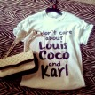 I don't care about Louis Coco & Karl shirt