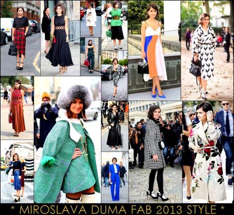 2013 Best Celeb Looks Miroslava Duma + Mira Duma