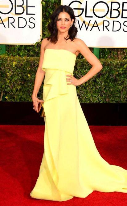 547a0dc8cd9058dd3b338350aff4374e Jenna Dewan Tatum from 2015 Golden Globes Red Carpet Arrivals in Carolina Herrera