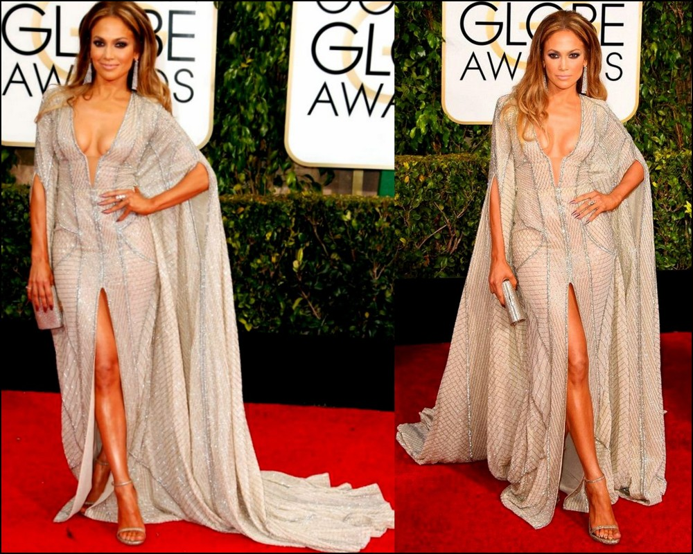 Jennifer Lopez in Zuhair Murad gown golden globes 2015