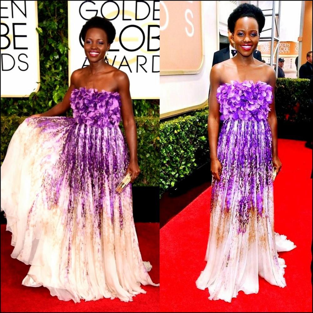 Lupita Nyong'o Golden Globes red carpet giambattisa