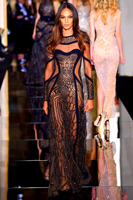 tumblr_nivimsKhQz1rchw7ao1_500Joan Smalls at Atelier Versace, Spring 2015 couture.
