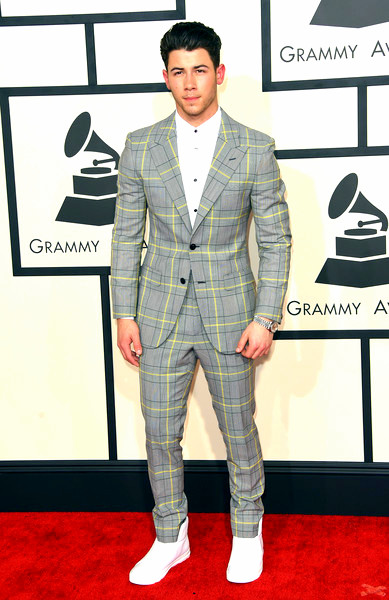 57th+GRAMMY+Awards+Arrivals+bCyHmHF6K9alNick Jonas attends The 57th Annual GRAMMY