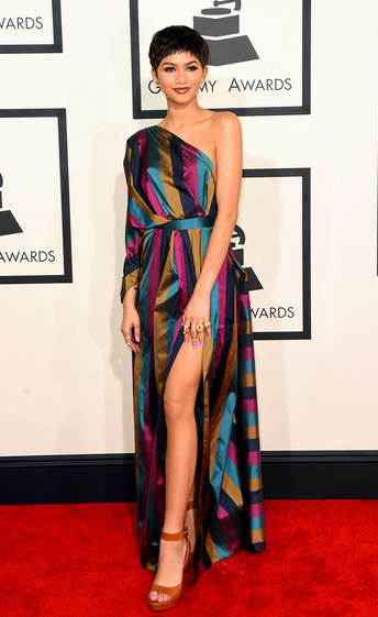 57th+GRAMMY+Awards+Arrivals+Cnj3cfmvm3wlZendaya attends The 57th Annual GRAMMY Awards