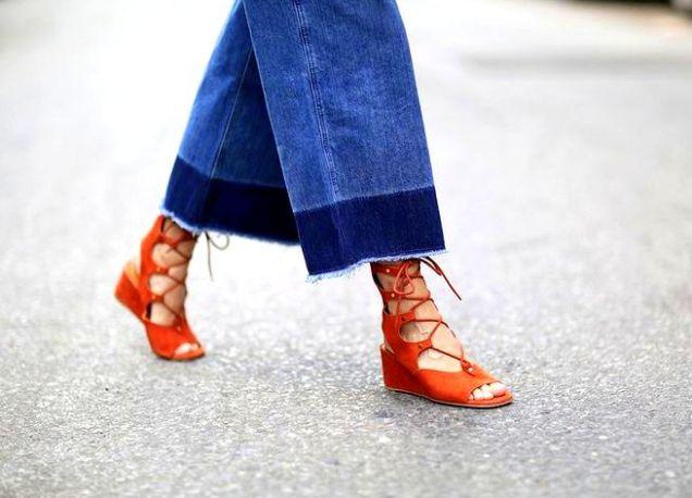 Boho Babe: gladiator sandals street style