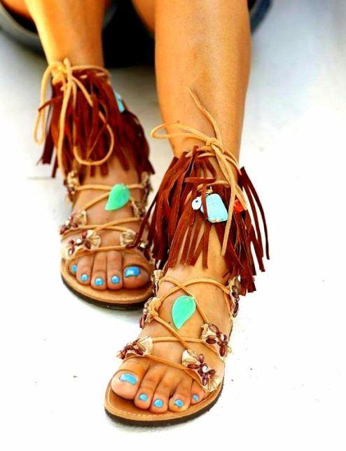 gTie up gladiator sandals