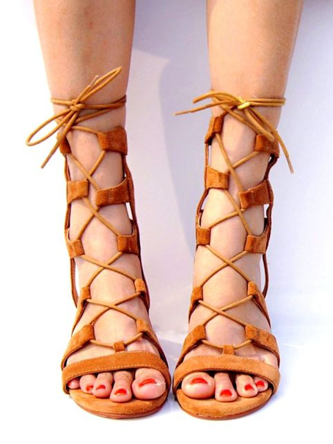 gladiator sandals lace up summer