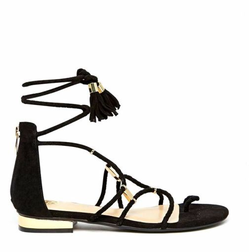 db29d5d0423f7c1a6cf2efba31a2e320River Island Tie Up Gladiator Flat Sandals