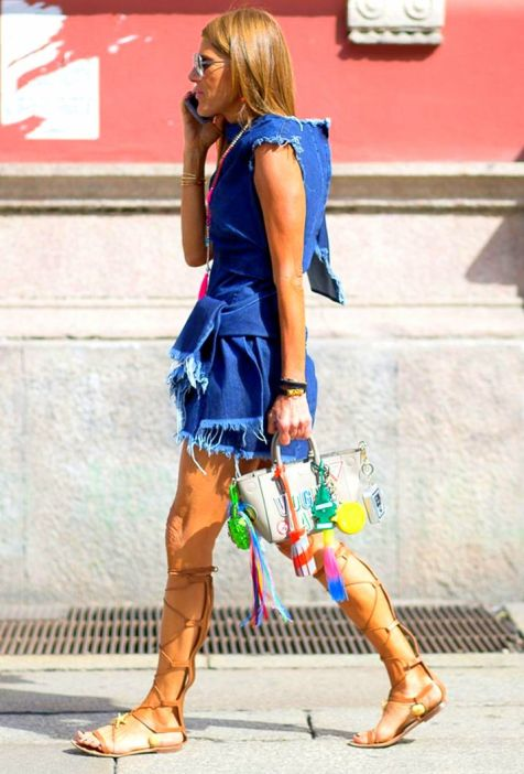 Milan Menswear Fashion Week Anna Dello Russo in Valentino sandals