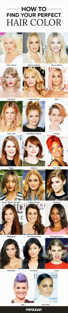 Celeb Hair color guide popsugar