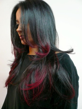 Ombre Fall Black Hair