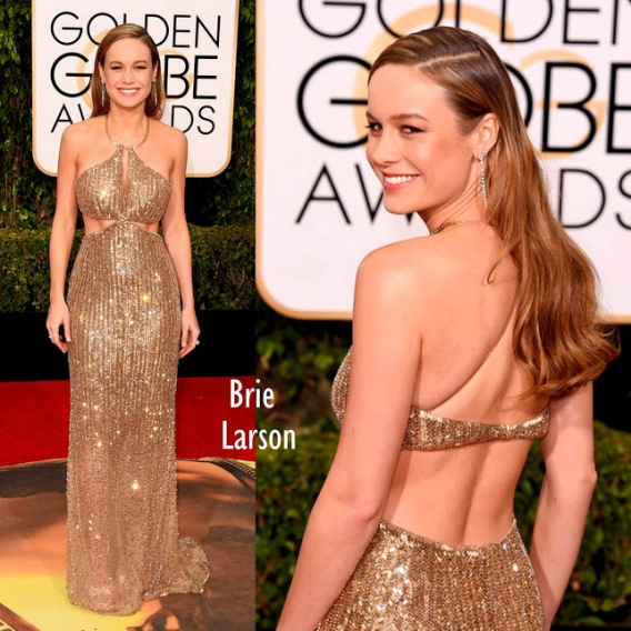 Brie Larson in Calvin Klein 73rd+Annual+Golden+Globe+Awards+