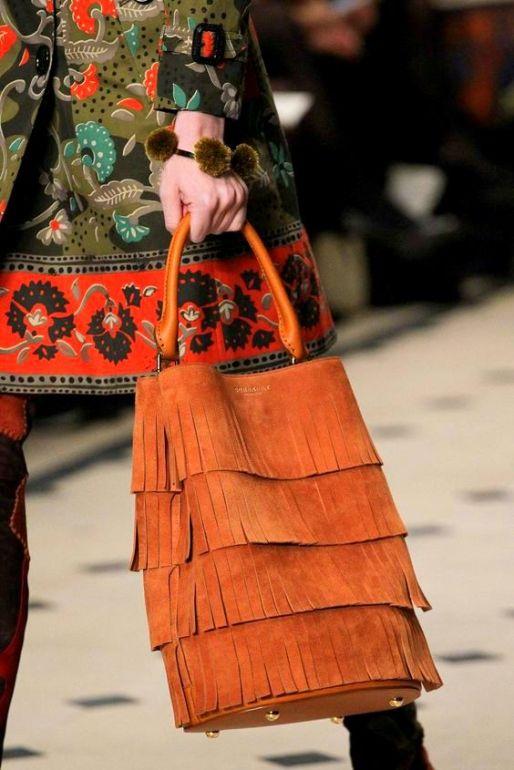 Burberry Prorsum Fall 2015 fringe bucket bag