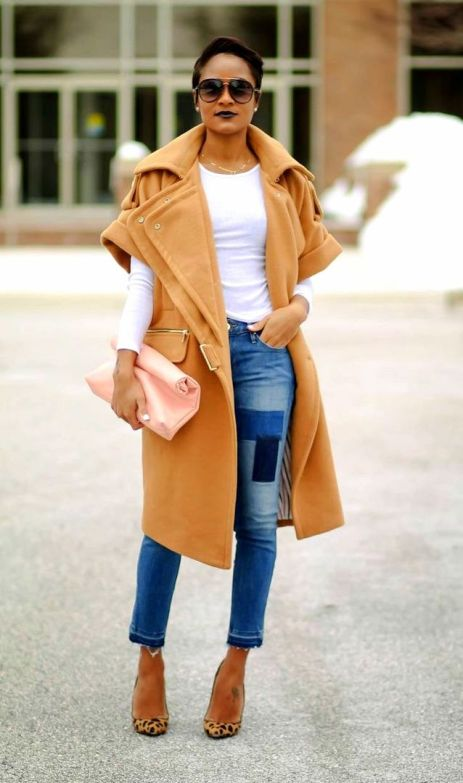 CAMEL COATED (The Daileigh) Short sleeved coat FALL camel