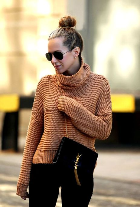 camel Sweater love and ysl handbag