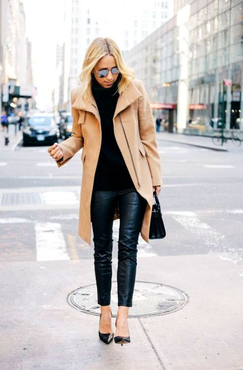 Damsel in Dior camel zara tan coat