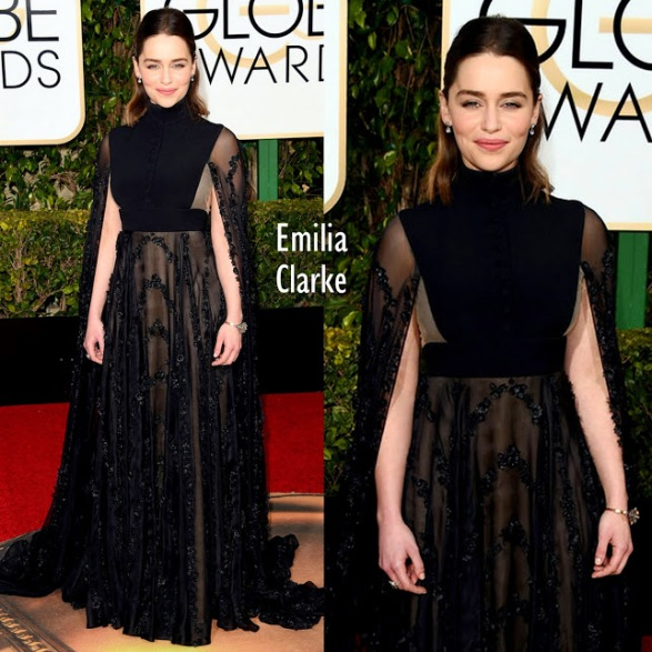Emilia Clarke Valentino Haute Couture 73rd+Annual+Golden+Globe
