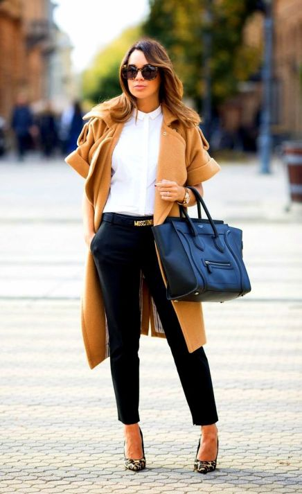 Fall Luxe Look camel coat
