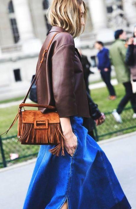 Fringe Fashion Trend 2015 suede fringed clutch bag