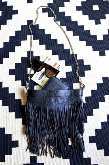 Fringed Leather Bag